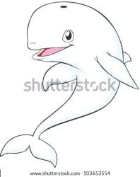 Cartoon Baby Beluga Whale