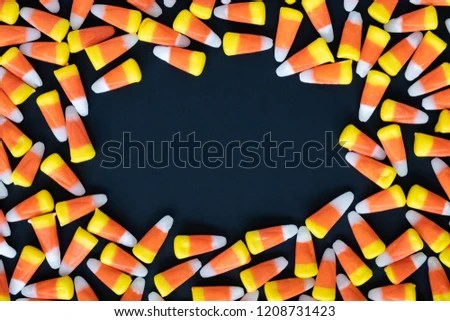 scattered candy corn background