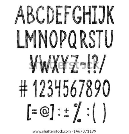 Tall And Skinny Handwriting Set 2:… Stock Photo 253334464