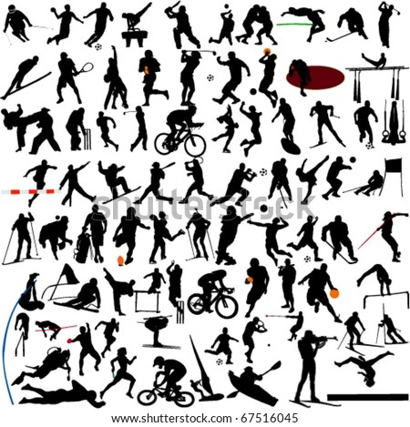 Sport Silhouettes Free Vector