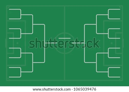 football pitch diagram to print maytag washer parts tournament bracket blank template vector download free art on field 16 teams grid championship illustration