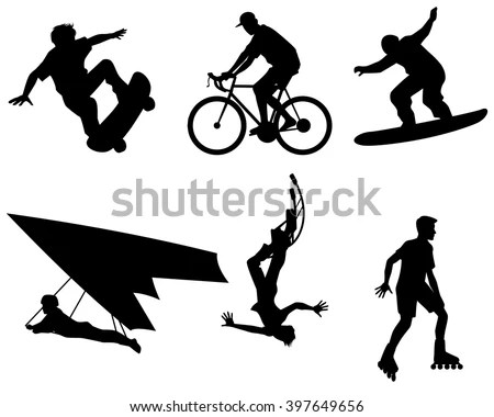 027-Skateboard Vector Silhouettes