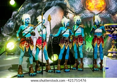 Moscow, Russia - May 15 2016: Epicenter Moscow Dota 2 Cyber Sports Event. Cosplay Show. Hero Phantom Lancer Stock Photo 421751476 : Shutterstock