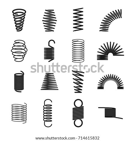 Vector Images, Illustrations and Cliparts: Metal spring
