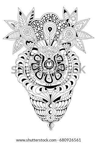 Royalty-free Giraffe head doodle on white background