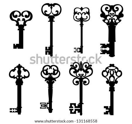 Vector Images, Illustrations and Cliparts: Old keys set