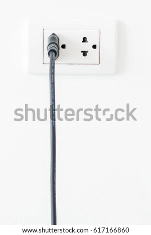 Electrical Plug Black White Green White Electrical Outlet