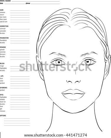 Vector Images, Illustrations and Cliparts: Face chart