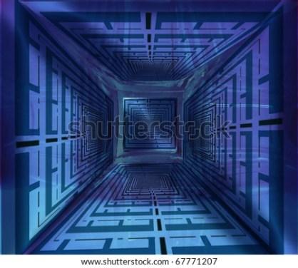 Blue puzzle image