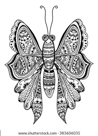 Royalty-free Hand drawn doodle bee illustration