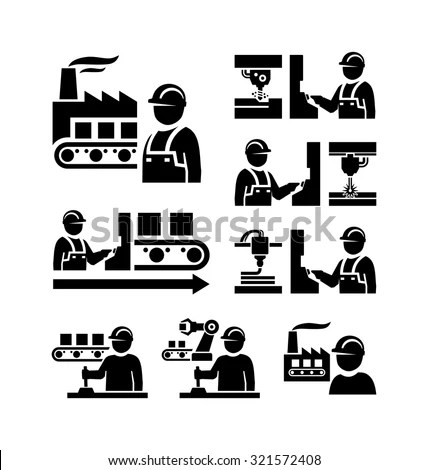 Vector Images, Illustrations and Cliparts: Factory worker