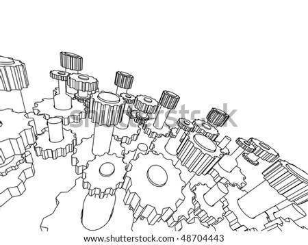 3d Transmission Stock Vector Illustration 48704443