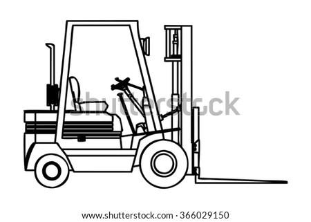 Royalty-free Forklift outline vector #161769368 Stock