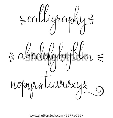 Handwritten Pointed Pen Ink Style Modern Calligraphy