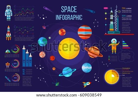 space diagram 03 ford f150 wiring free flat vector illustration download art solar system infographics with different statistical elements including charts graph