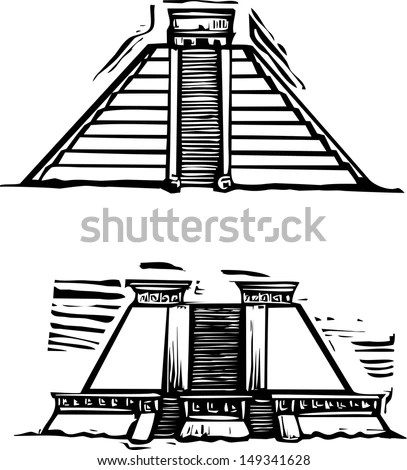 Ancient Mayan Buildings Coloring Pages Coloring Pages