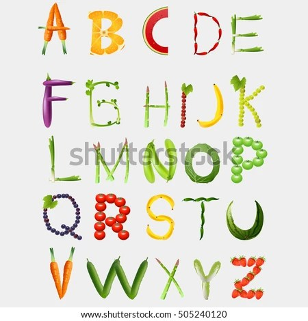 The Abcde Of Vitamins Vector Images Illustrations And Cliparts Food Alphabet