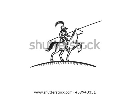 Lady Justice Coat of Arms Vector Logo… Stock Photo
