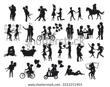 Royalty-free Black icons set with people… #339088553 Stock