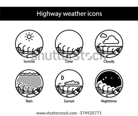 Set of color hand drawn planet icons… Stock Photo