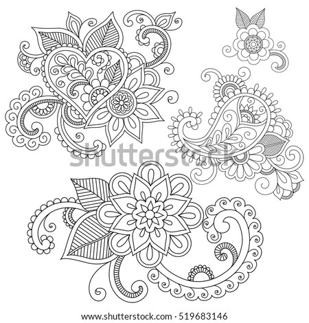 Royalty-free Abstract floral vector illustration in