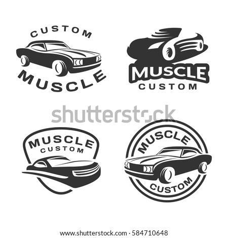 Vector Images, Illustrations and Cliparts: Muscle car logo