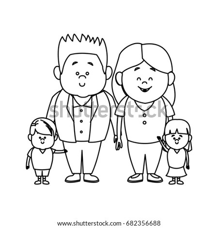 Royalty-free Child's drawing of a married couple #49844383