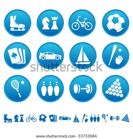 stock vector : Sport and hobby icons
