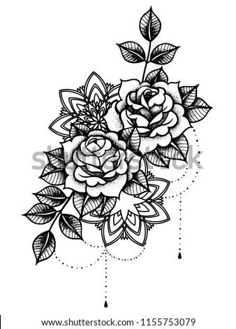 Vector Flower Tattoo Design  Download Free Vector Art