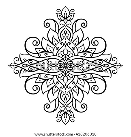 Royalty-free Ornamental floral element for design in