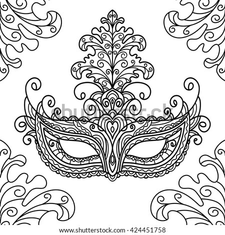 Vector Black And White Illustration, Outline, Coloring