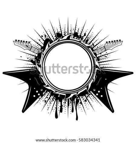 Heavy Metal Electric Guitar Stock Vector Illustration Of Blue