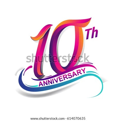 10th anniversary free vector