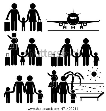 Family Vacation Trip Holiday… Stock Photo 180578336