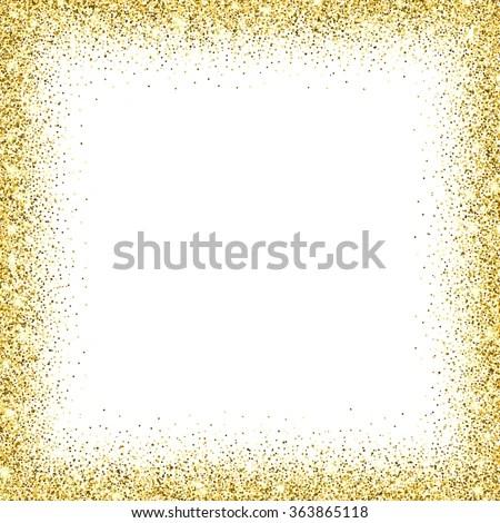 Golden Glitter Frame Png | Framess.co