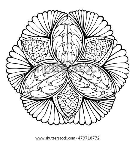 Royalty-free Heraldry clam shell sketch calligraphic