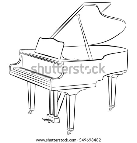 Vector Images, Illustrations and Cliparts: Line drawing of