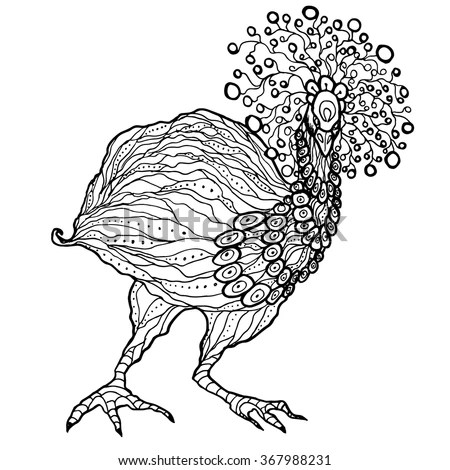 Emu Ostrich Coloring Page Printable Vector Art For Adult