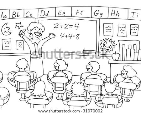 Math Teacher : Female Teacher Gives A Lecture To Her