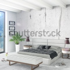 Minimal Sofa Design Corner Sofas Newcastle Upon Tyne White Bedroom Style Interior With Wood Wall And Grey 3d Rendering