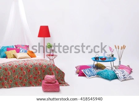 modern white wall bedroom and minimal decor stock images page everypixel