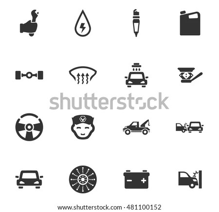 Car Service Maintenance Icons Set And Symbols For Web User