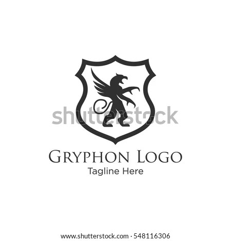 Gryphon Medieval Logo Design. Royal Logo Design Stock
