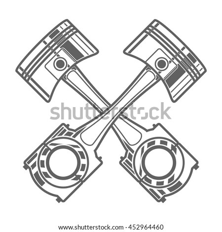 Vector Images, Illustrations and Cliparts: Piston, two