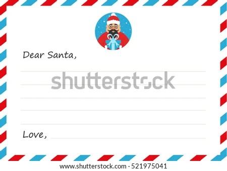 vector santa s letter
