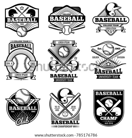 Set of various sports and fitness logo… Stock Photo