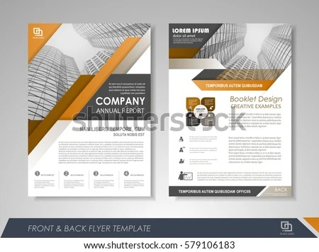 Yellow Annual Report Brochure Template Design Download Free Vector