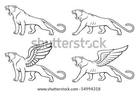 Winged Cat Stock Vector Illustration 54994318 : Shutterstock