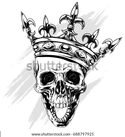Royalty-free Skull in a crown, the king of the dead