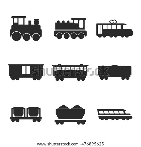 Royalty-free Train vector illustration black… #106273286